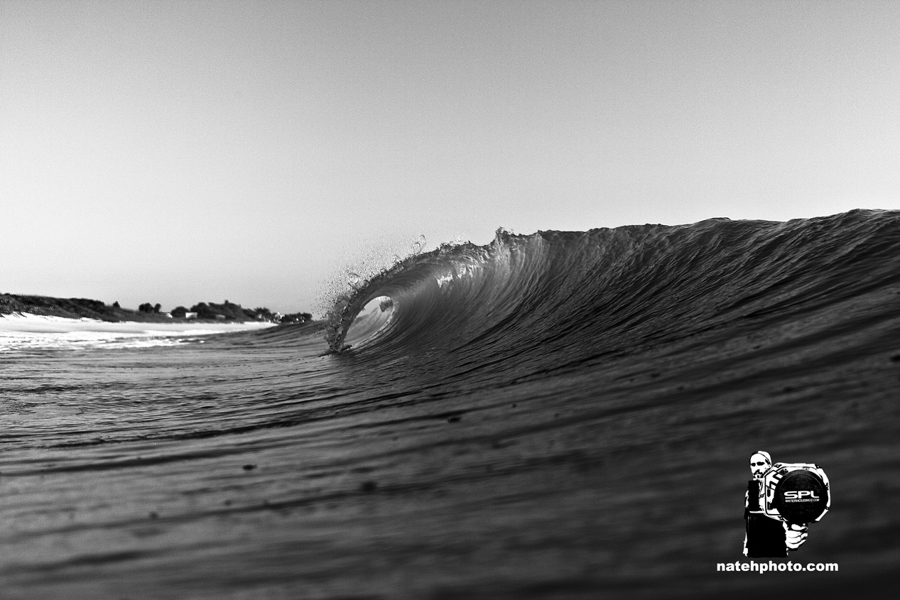 Peaks like this were going through all morning. 2ft A-frames up and down the beach.