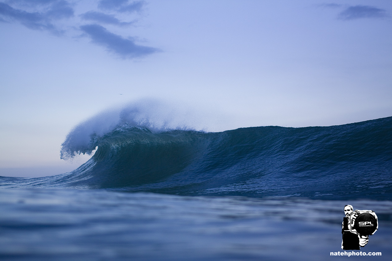 Peaky, clean, and size-able surf.