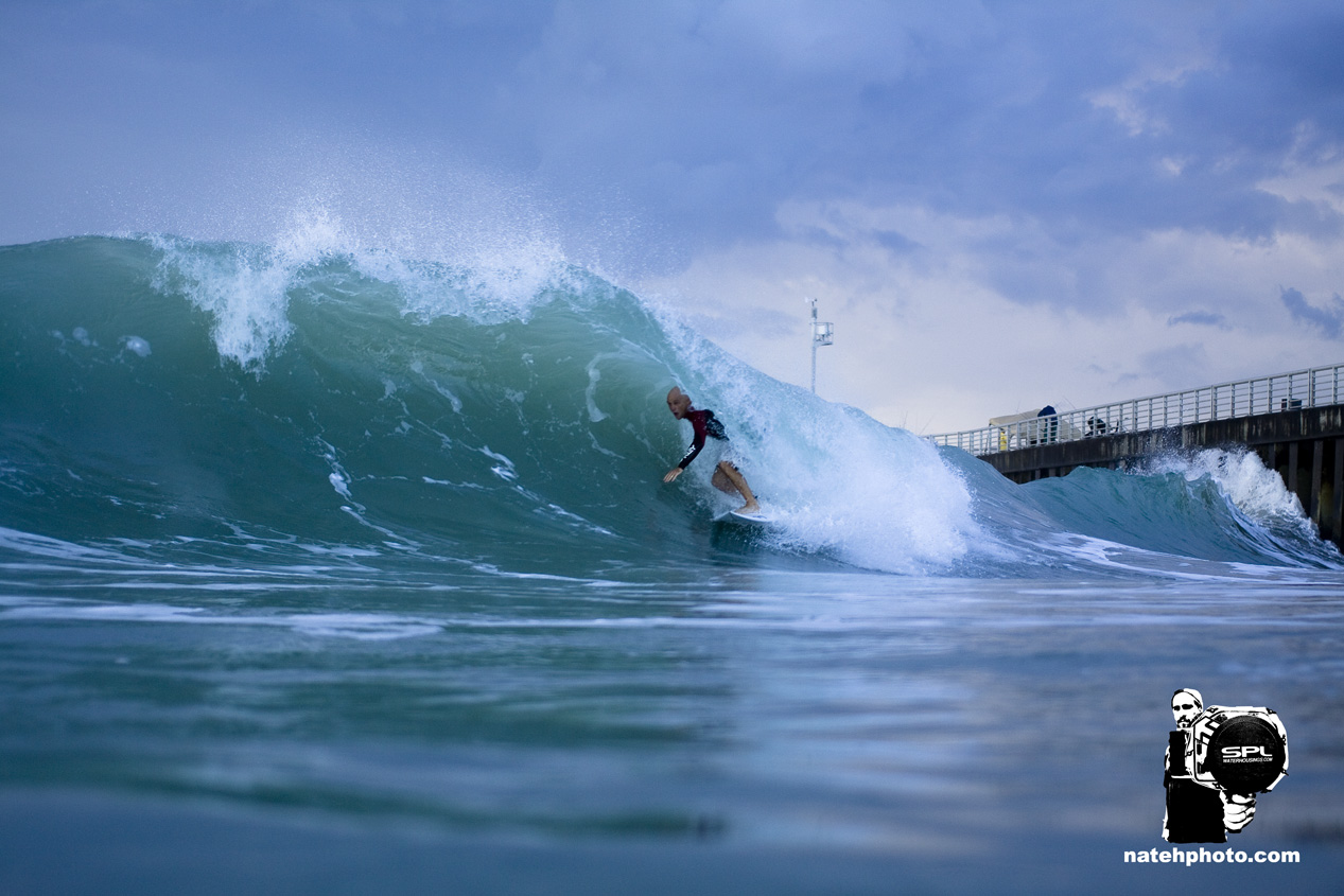 Here's another of David. If the backwash looked like it was going to connect right and barrel, he was on it! I'm sure its been said before but this guy knows Sebastian Inlet well.
