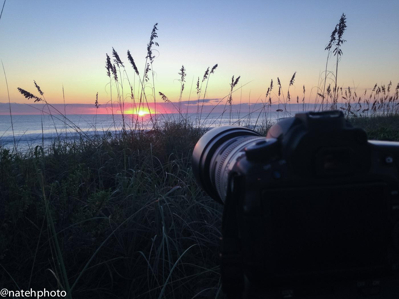 Shooting the sunrise at Sebastian a few weeks ago.