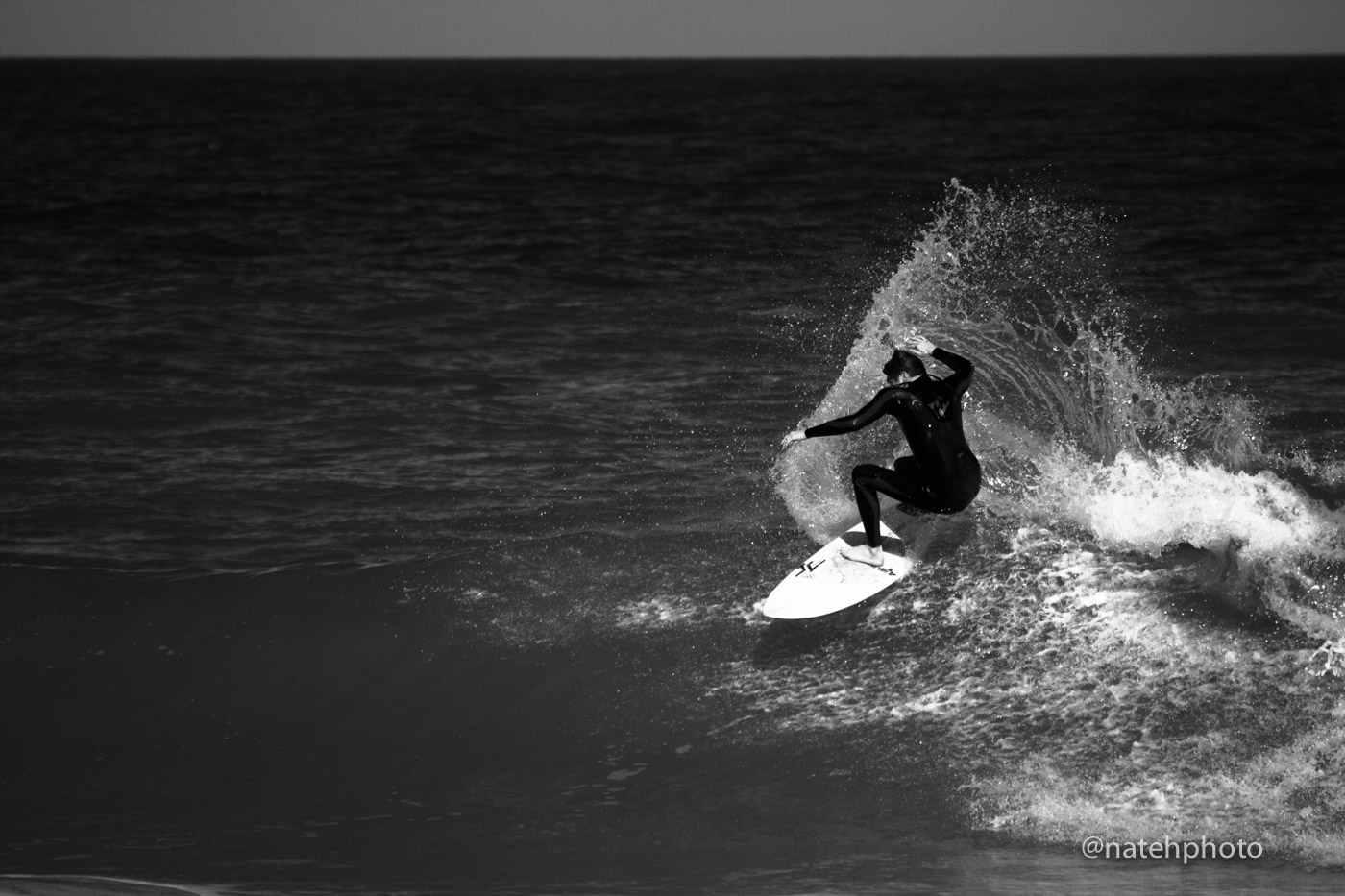 I was shooting with a B&W polarizer, its only fair that I edit one image to be B&W. Nate frontside hack.