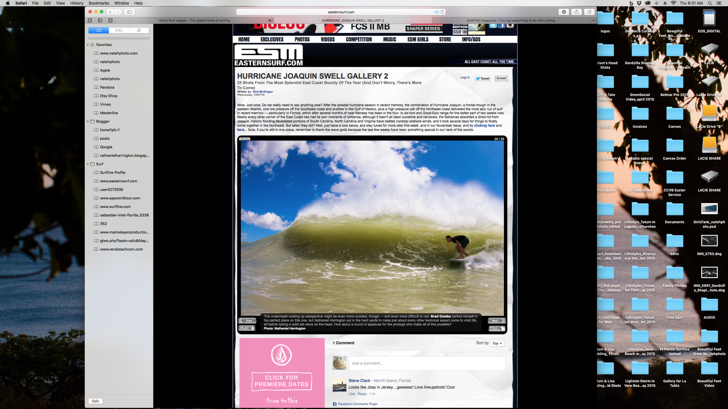 Brad Domke on ESM, Gallery #2 from Hurricane Joaquin.