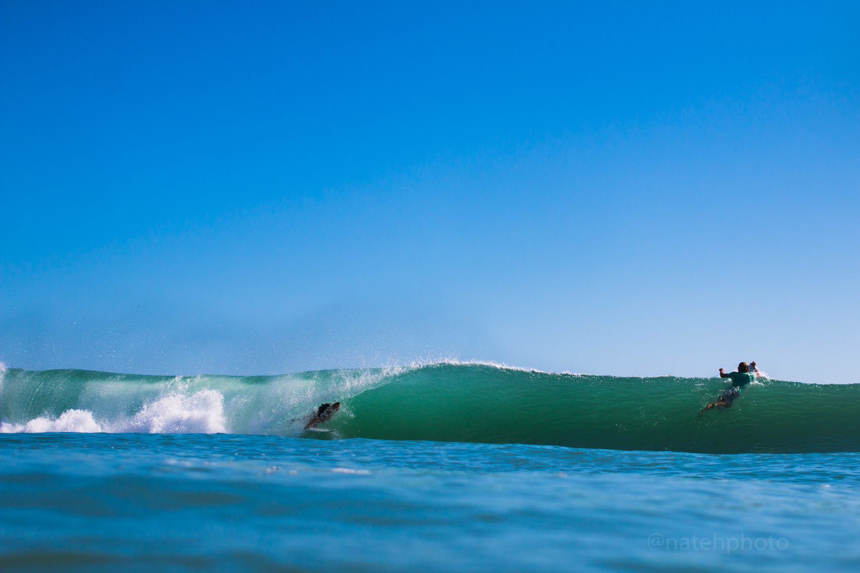 Chauncey Robinson in the Barrel at Spanish House, FL. Photo by Nathaniel Harrington (natehphoto)