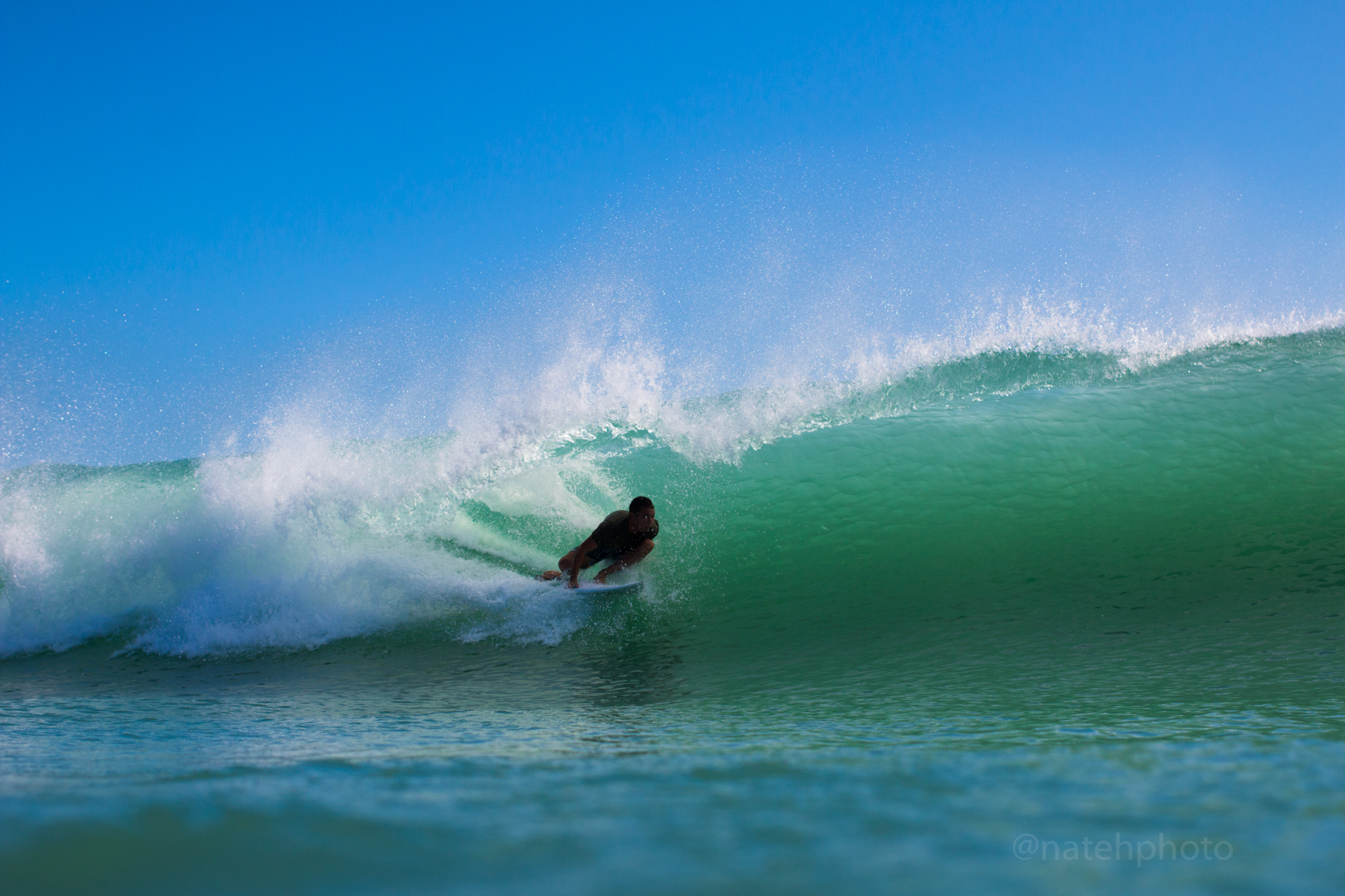 Wiley Robinson in the Barrel at Spanish House, FL. Photo by Nathaniel Harrington (natehphoto)