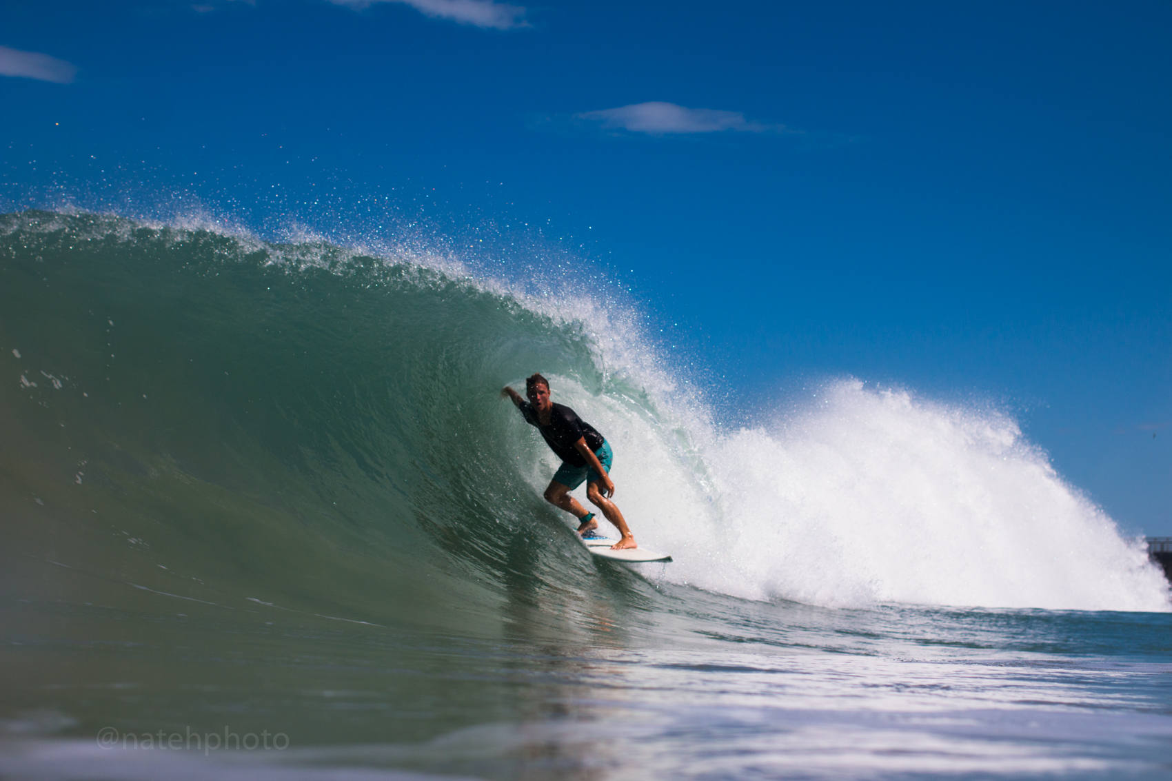 Chauncey Robinson Surfing at Sebastian Inlet, Photography by Nathaniel Harrington