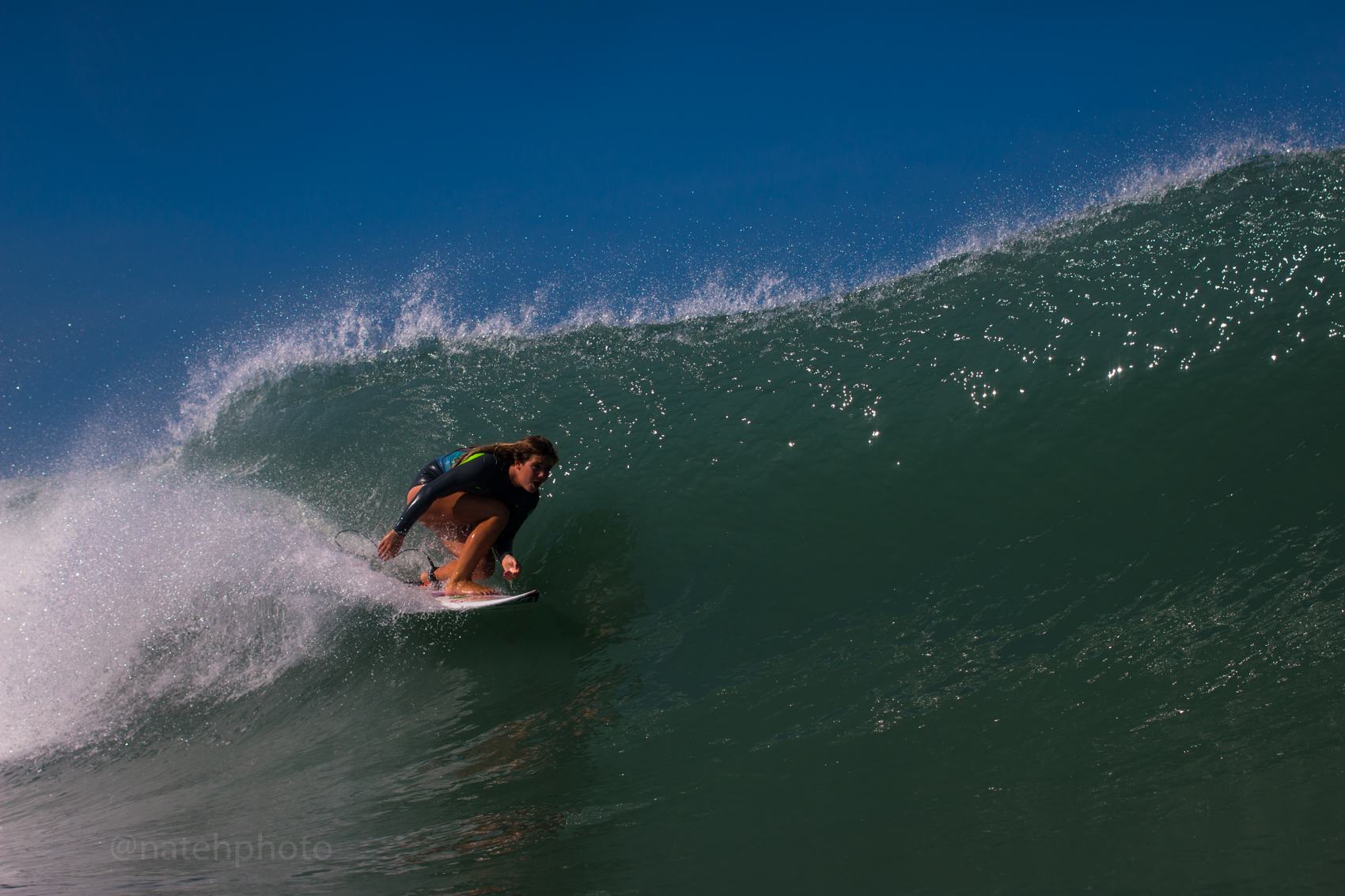 Caroline Marks Surfing at Sebastian Inlet, FL. Photography by Nathaniel Harrington
