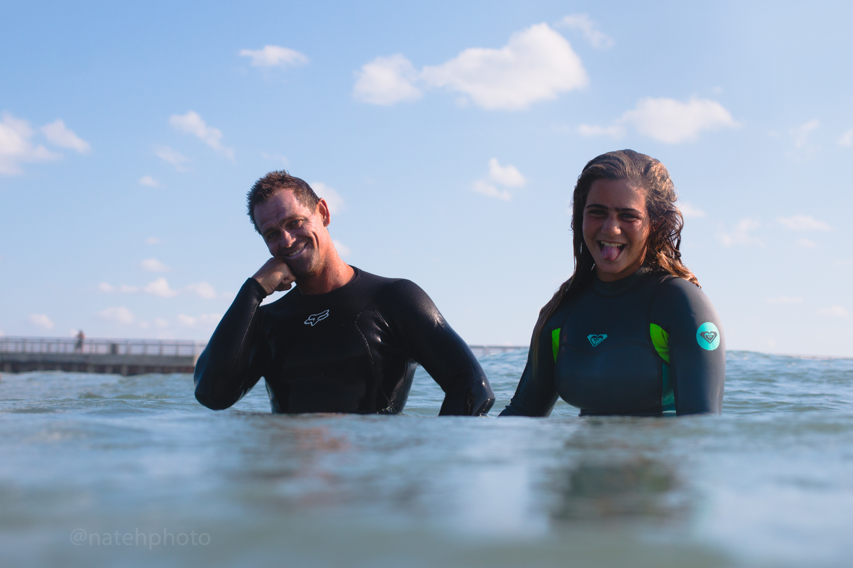 Ct Taylor and Caroline Marks Surfing at Sebastian Inlet, FL. Photography by Nathaniel Harrington