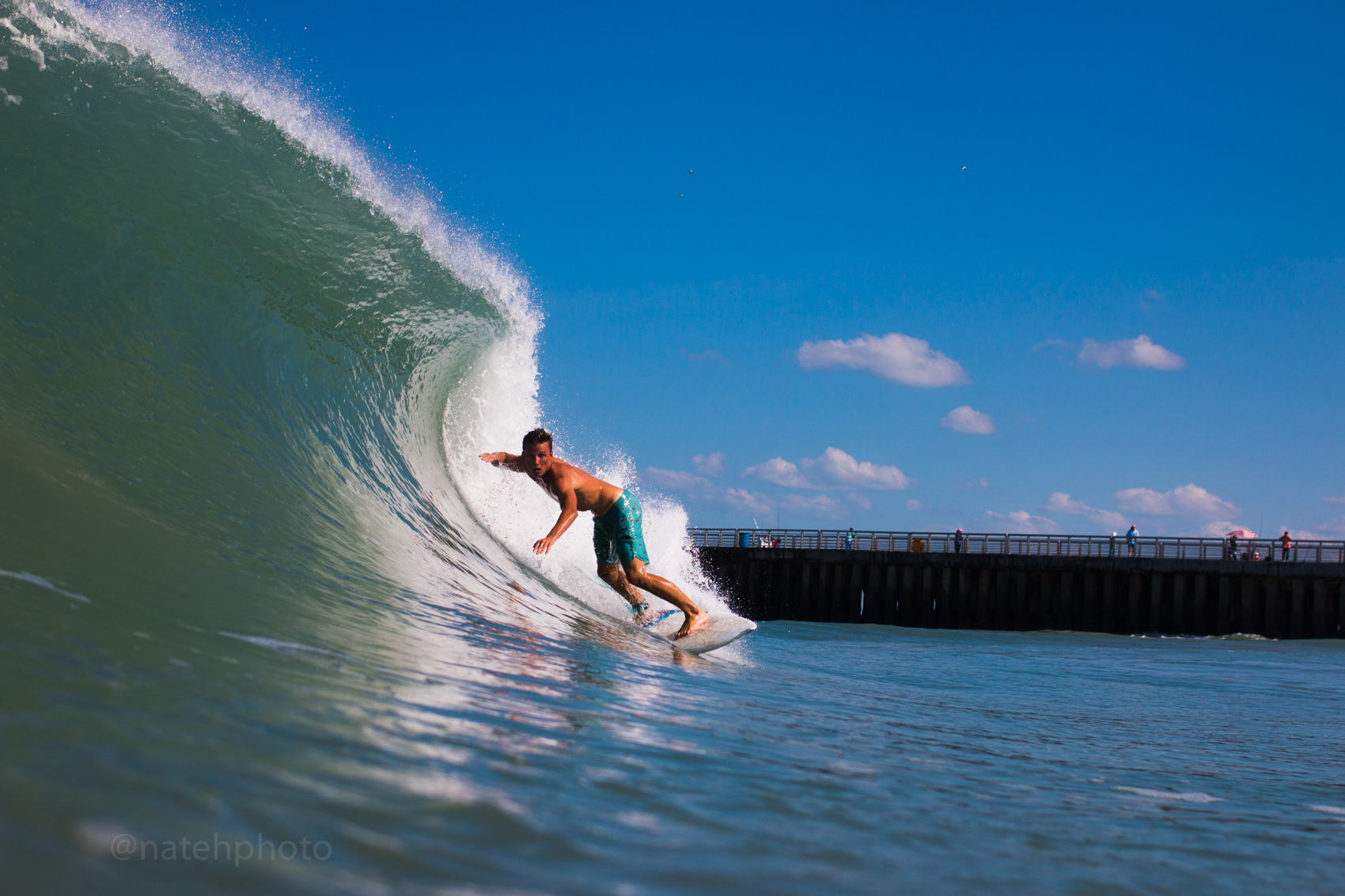 Chauncey Robinson Surfing at Sebastian Inlet, FL. Photography by Nathaniel Harrington
