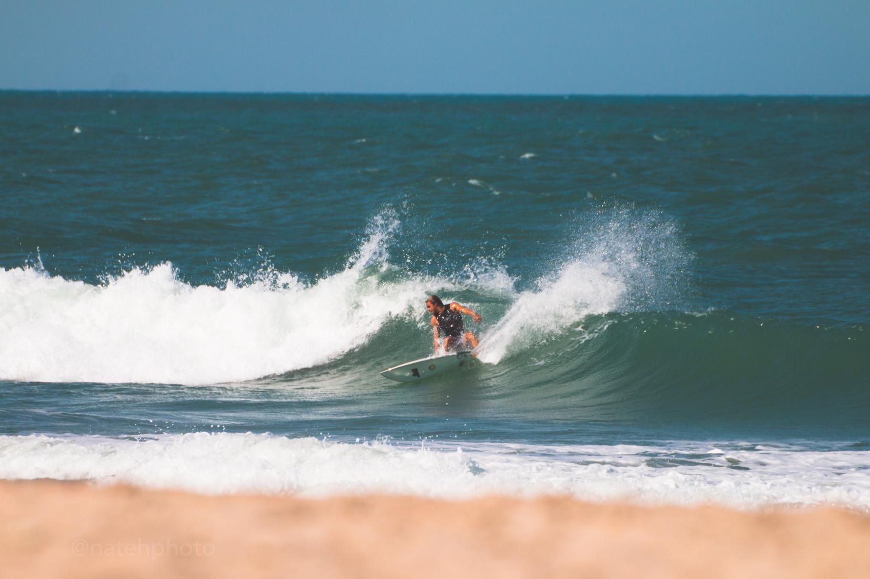 Brock Taylor surfing Sebastian Inlet, photo by Nathaniel Harrington