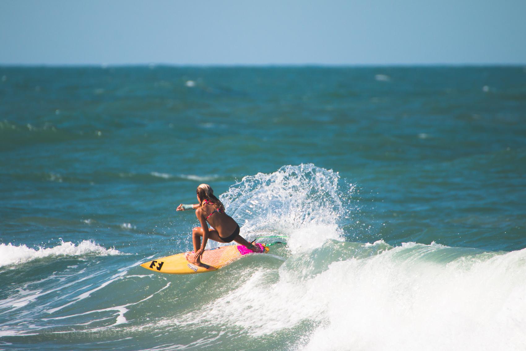 Zoe surfing sebastian inlet, photo by Nathaniel Harrington