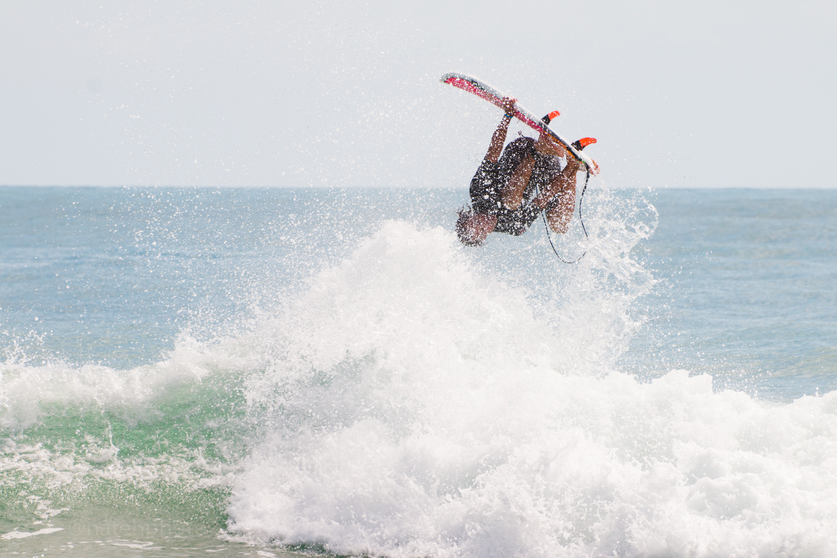 When your surf coach goes upside down. Michel Flores trying Brazilian aerials.