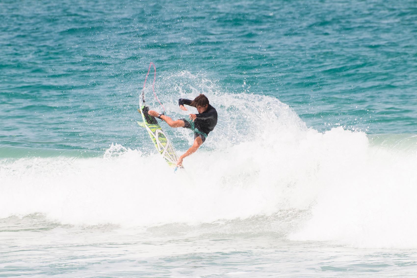 Chase Modelski surfing at Sebastian Inlet, Florida. Photos By Nathaniel Harrington.