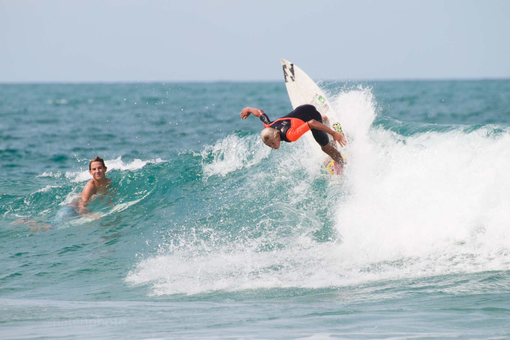 Tommy Coleman surfing at Sebastian Inlet, Florida. Photos By Nathaniel Harrington.