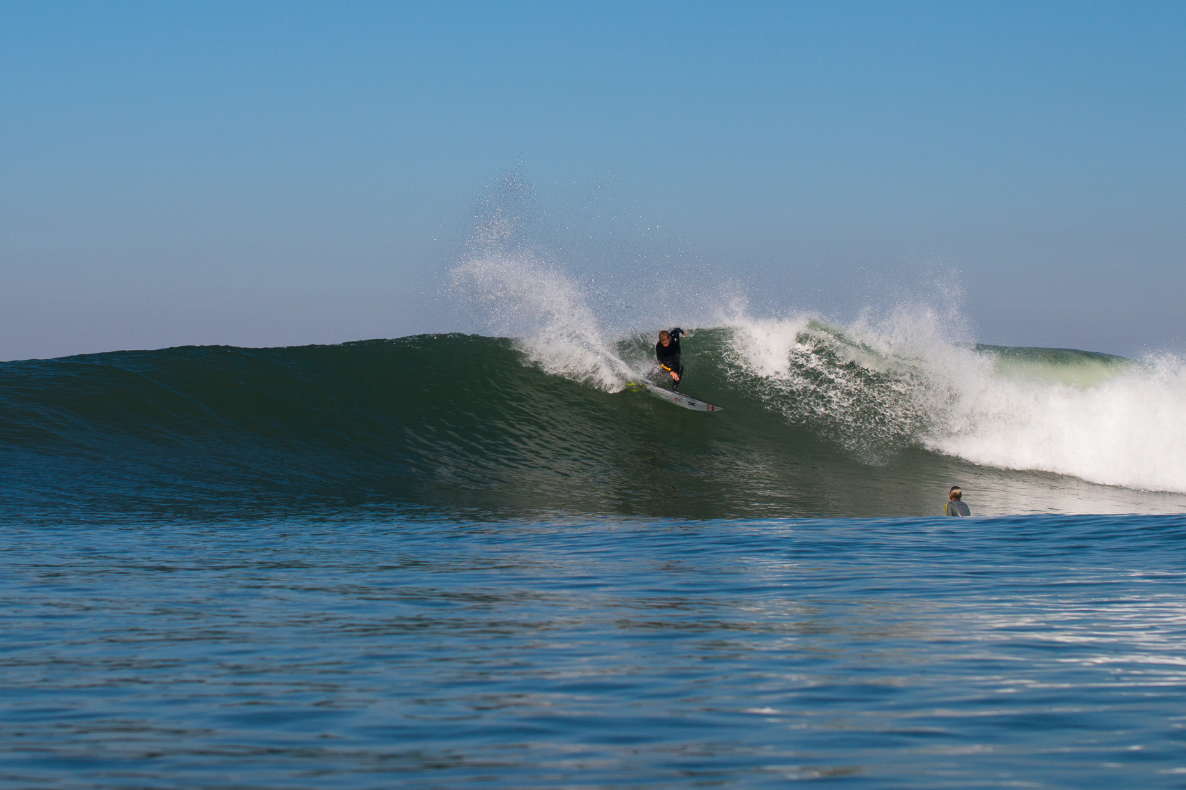 Kolohe Anding putting on a clinic at Lowers, San Clemente, CA.