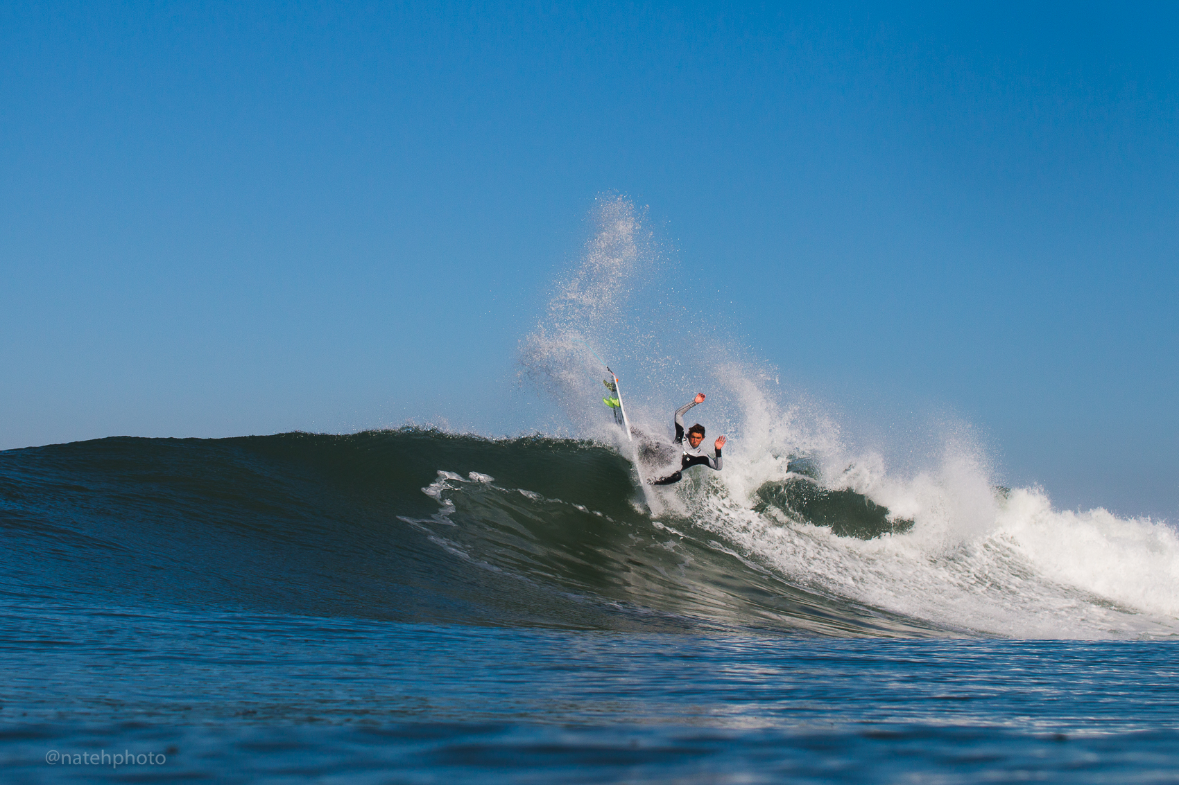 Griffin Colapinto blow tail at Lowers, San Clemente, CA.