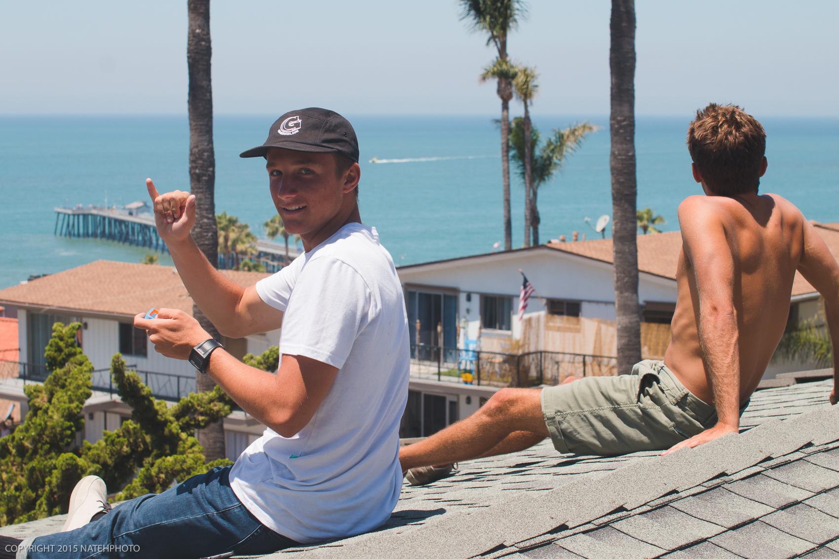 Roof top views in-between surf comps.