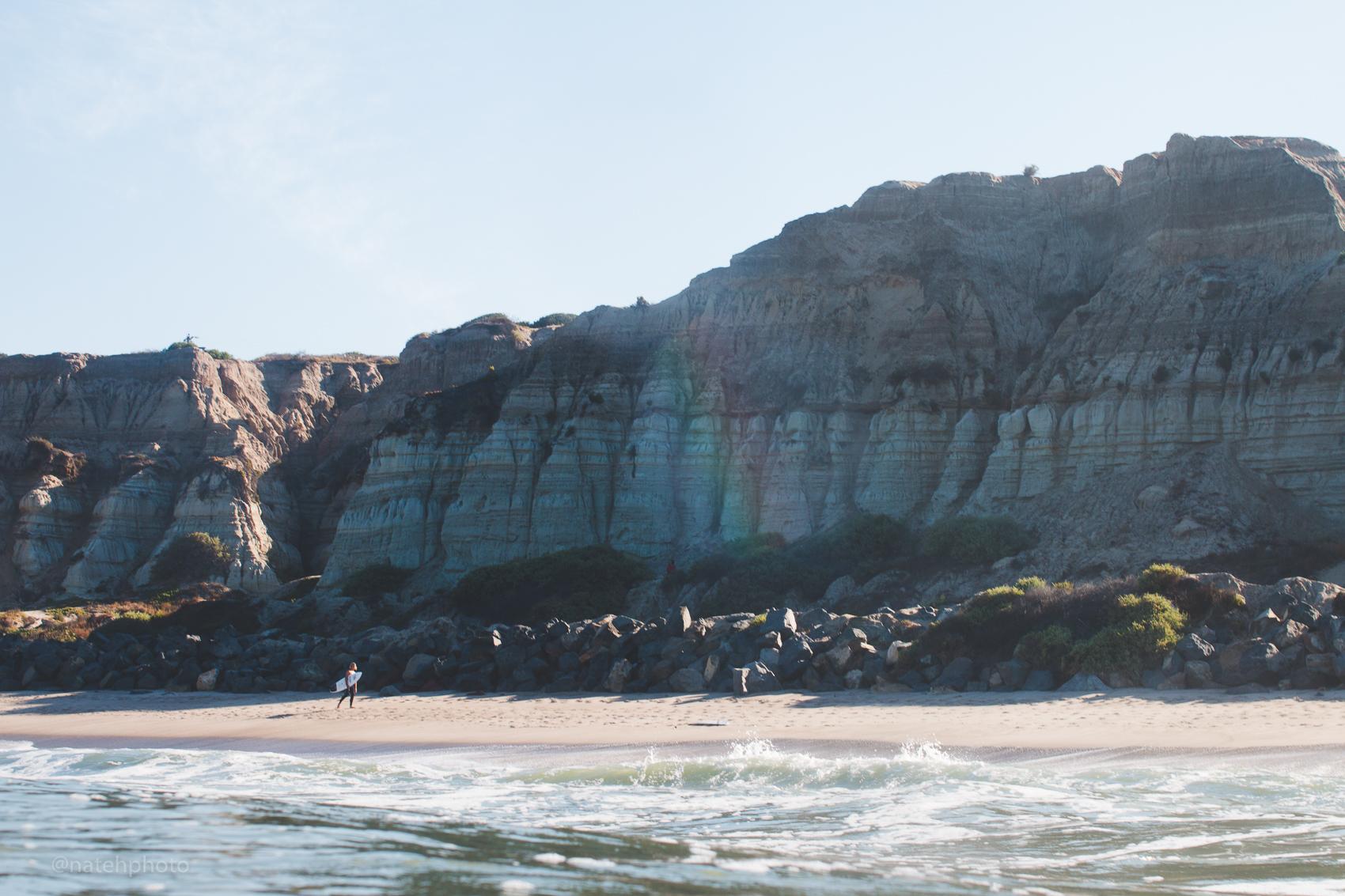 Matthew Glenn under the cliffs at State.