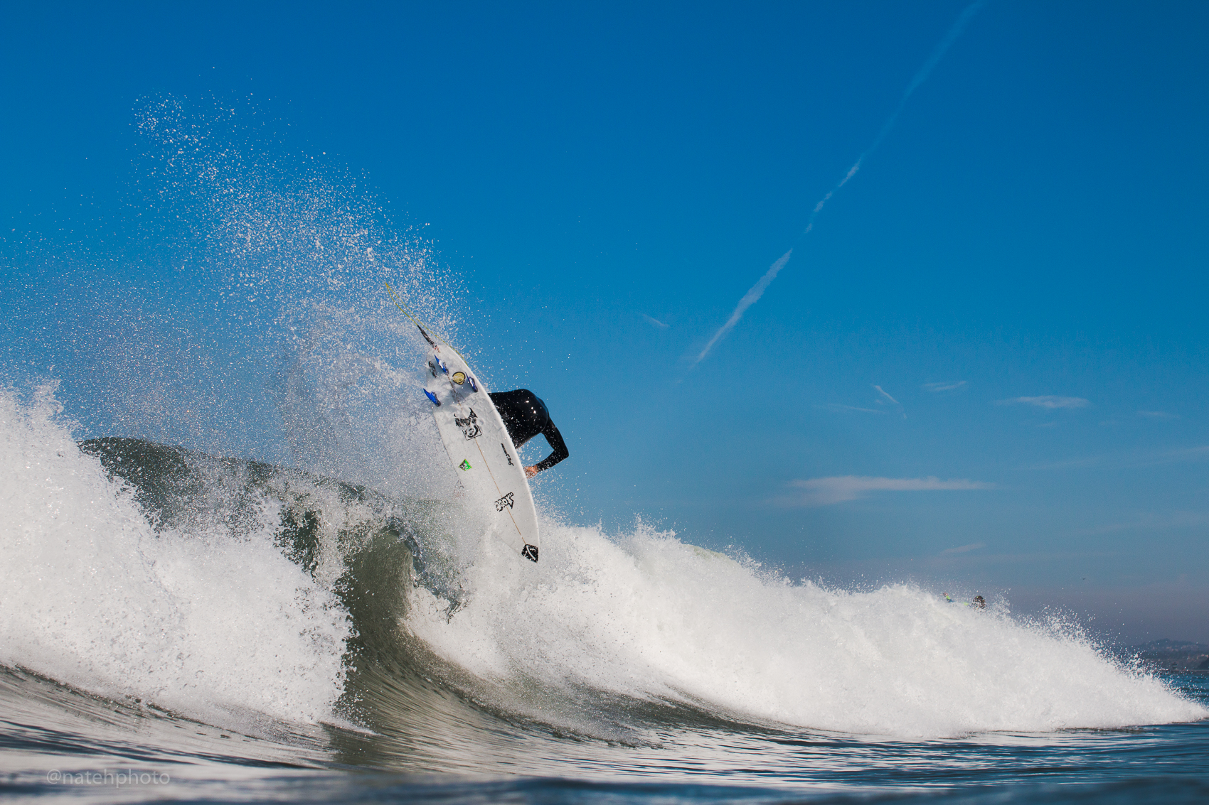 Evan Brownell throwing it up in a punchy beach break. This North Florida surfer rips.