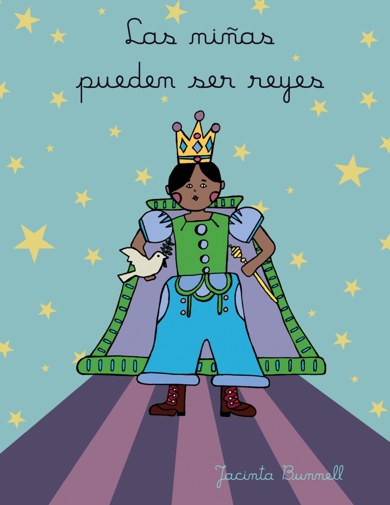 Las niñas pueden ser reyes - spanish coloring book
