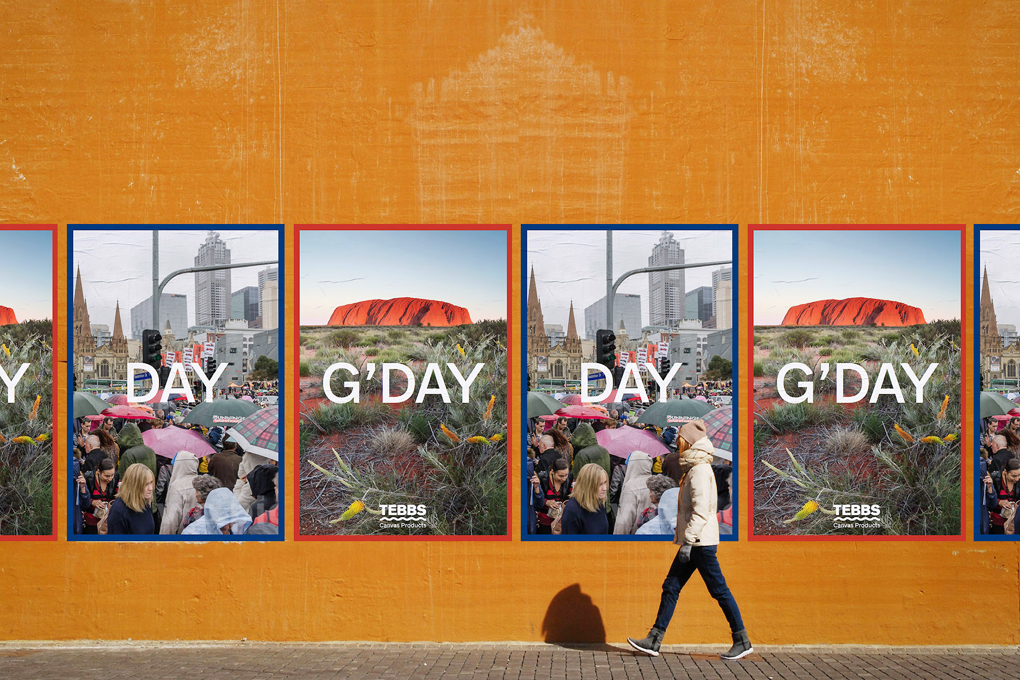 Outdoor ad campaign