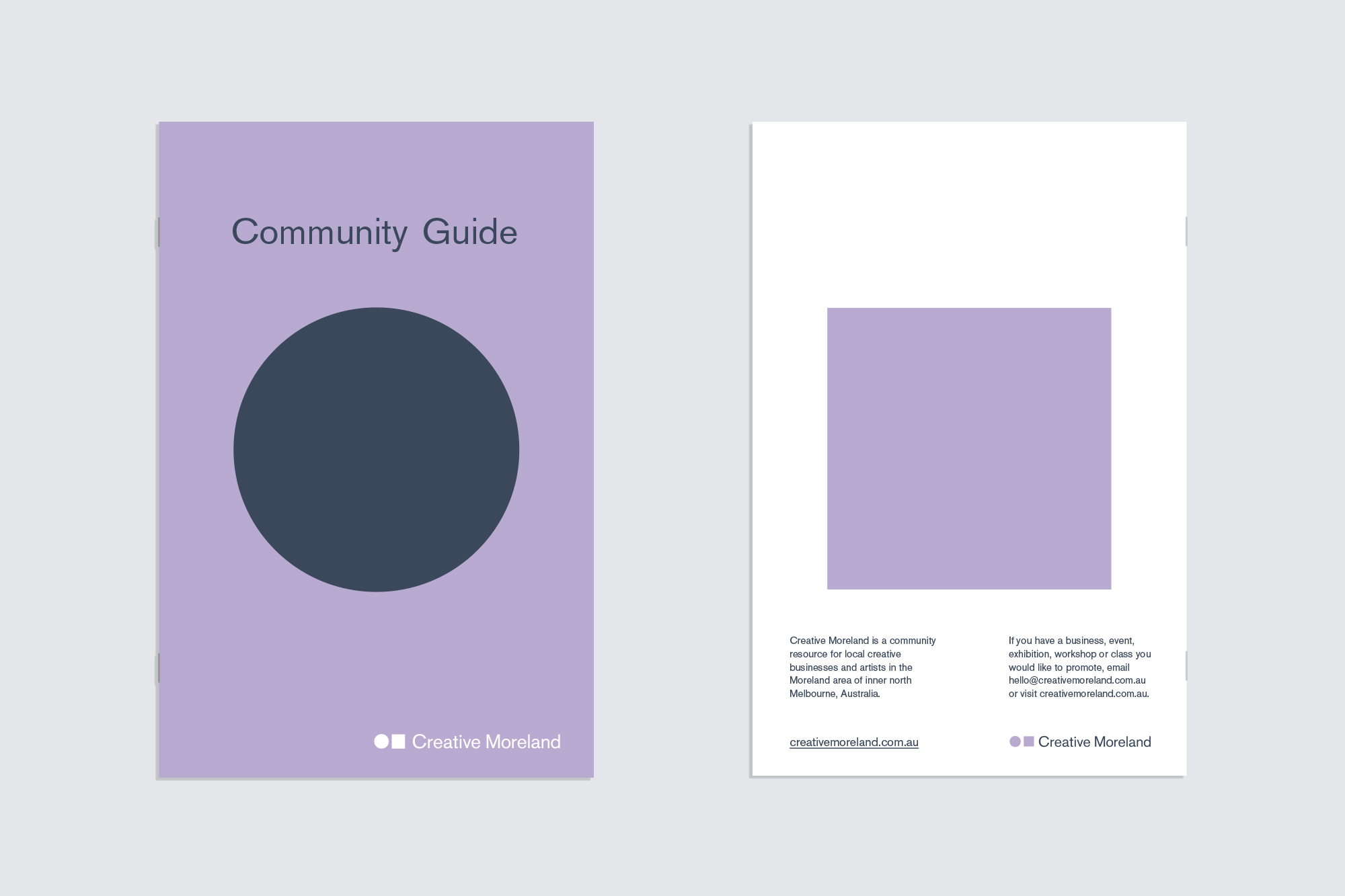 Print brochure front and back covers