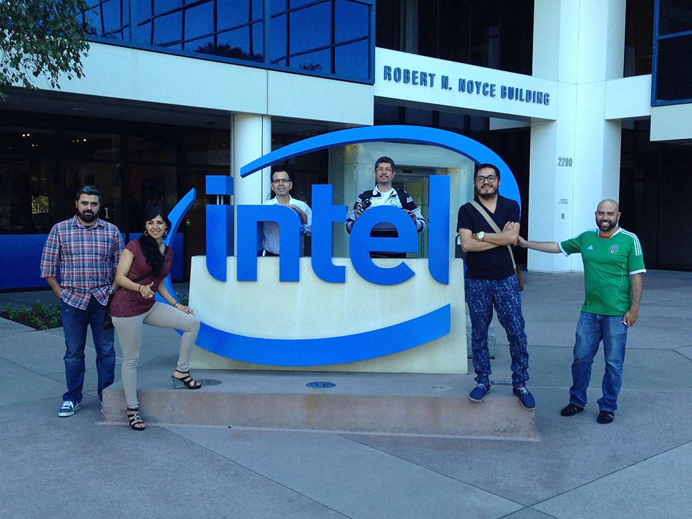 Fotografía del museo y oficinas de Intel.