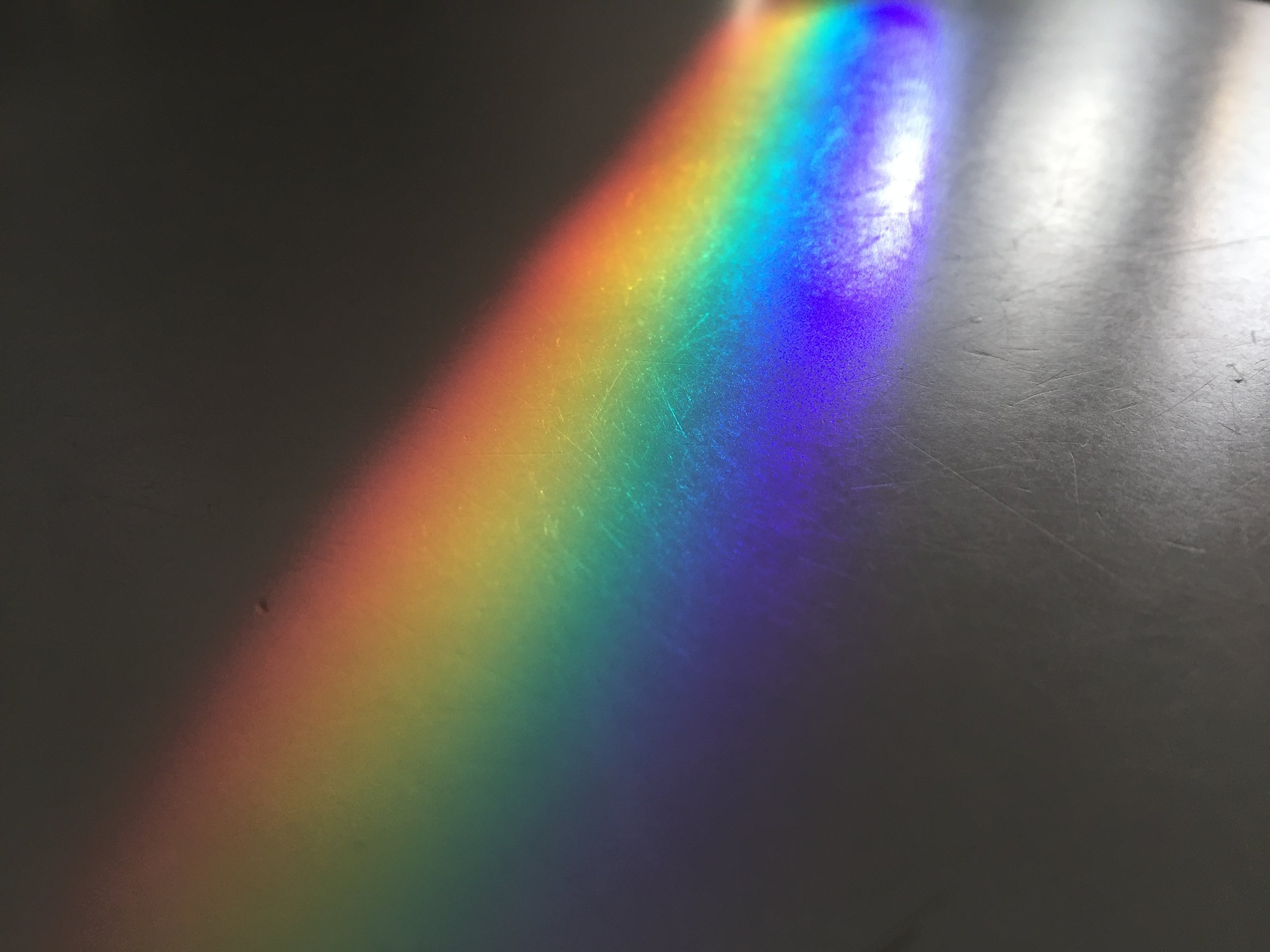 Rainbows are a beautiful example that all colours are present in white light.