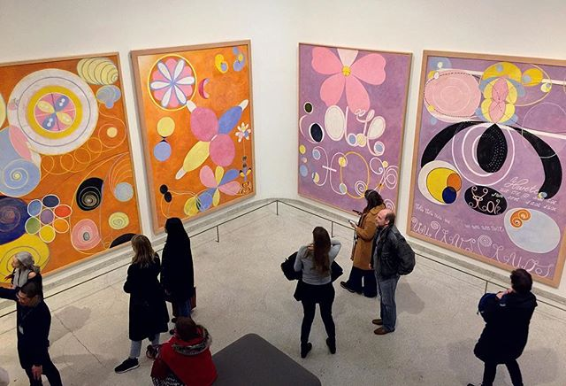 💫Loved this show @guggenheim #hilmaafklint fascinating woman! Definitely a must see.❤️