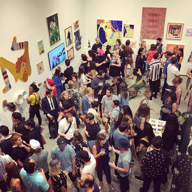 Great show!! Many thanks to @c24gallery and @fieldprojects ❤️❤️❤️ check out 'Pool Party' up through Sept. 23rd!