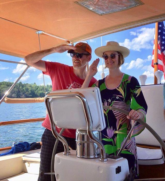 Sailing in Maine! ⚓️#shiptoshore
