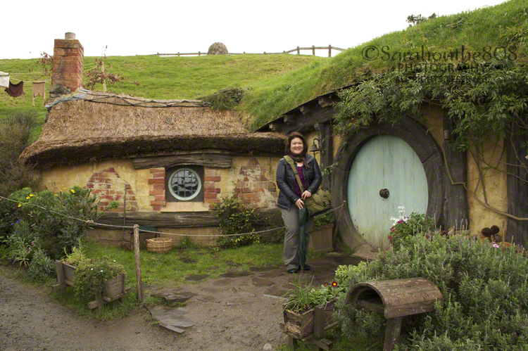 On the Hobbiton Movie Tour just before driving to Rotorua.