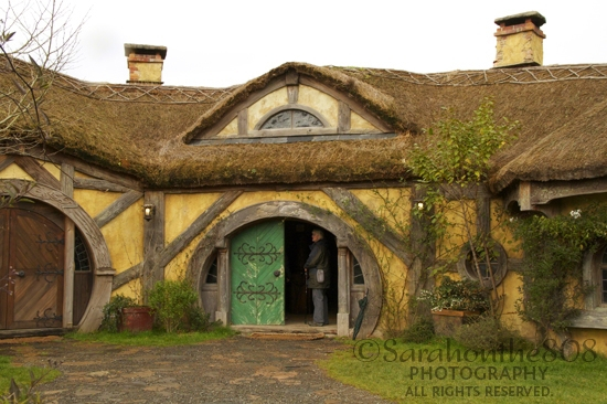 "The Green Dragon Inn where Frodo, Sam, Merry and Pippin partake of drink in the first and last of the ""Lord of the Rings"" trilogy. The first, while still innocent and naive, the last after a weary and transformative journey."