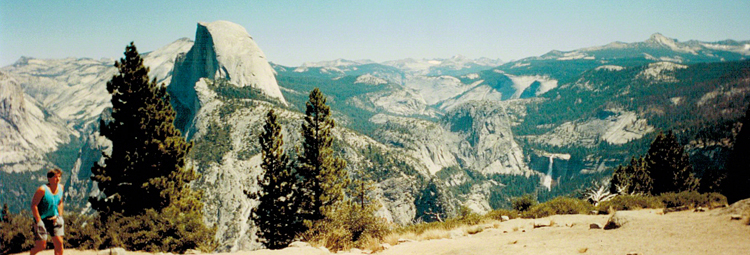 One last panoramic from my good 'ole Fuji camera. On June 30, 1864, President Abraham Lincoln signed an Act of Congress to protect Yosemite Valley, which means that today is Yosemite's 150th birthday. Thank you Mr. Lincoln!