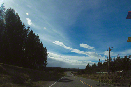 Blue skies + a two-lane open road = bliss!