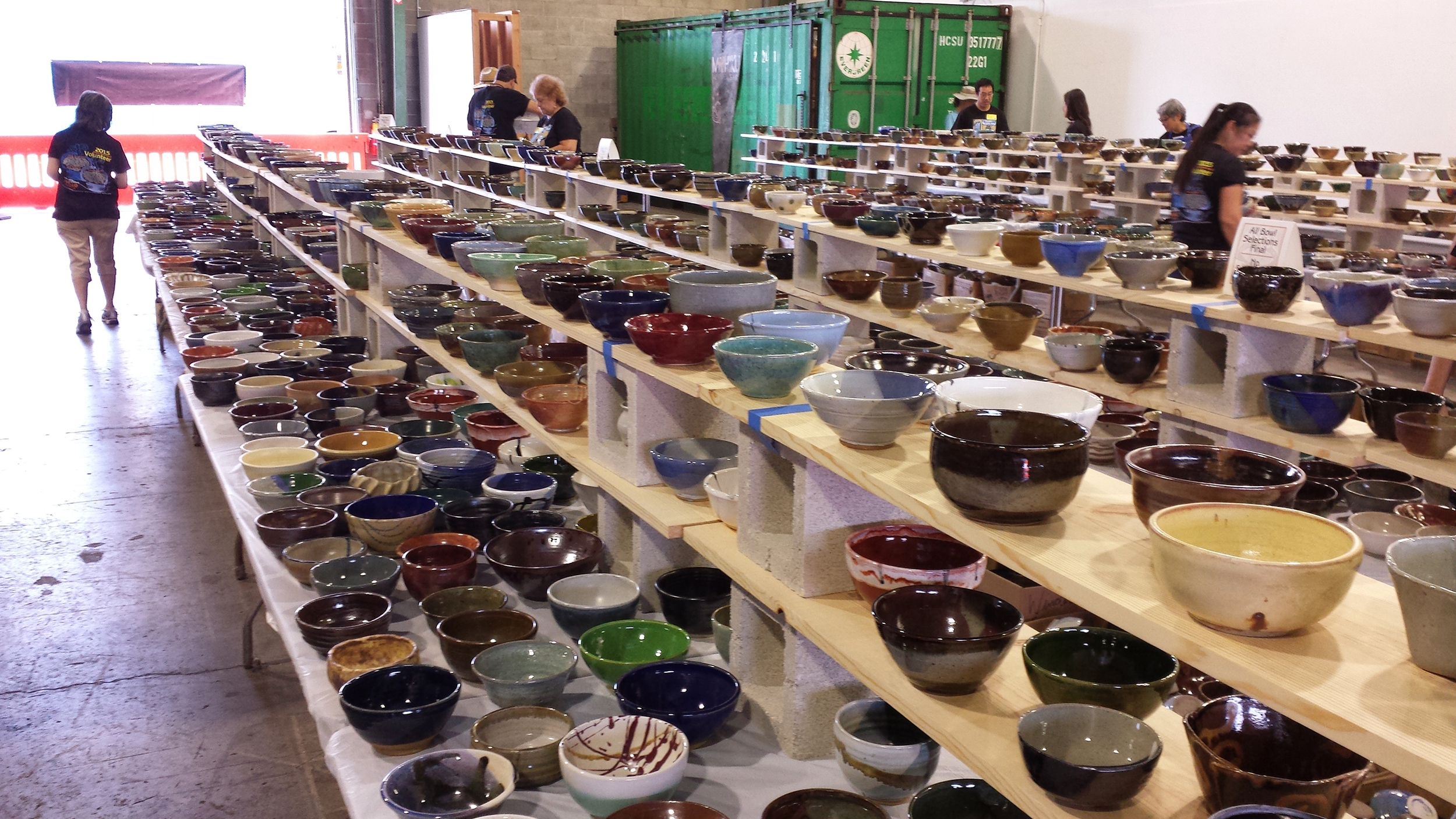 Beautiful ceramic bowls of every size, shape and design awaiting their owners at Empty Bowl Hawaii. Thanks to the many individuals and organizations who created these one-of-a-kind works of art for a great cause.