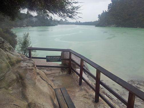 End of the trail at Lake Ngakoro