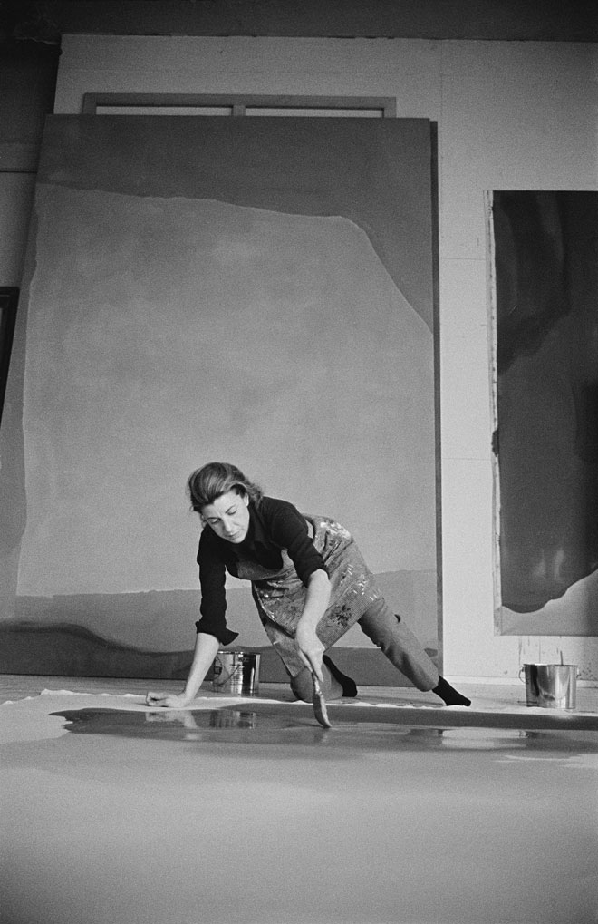 photographed in her studio by Ernst Haas