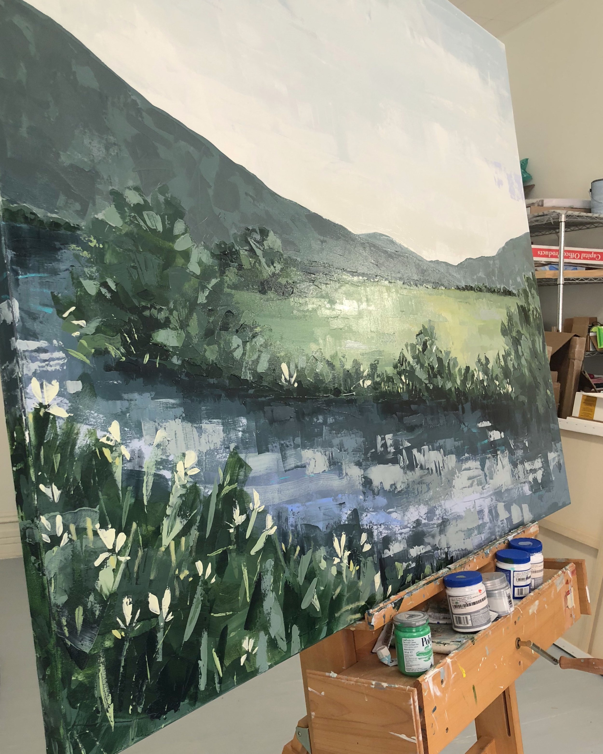 "One of the largest landscapes of the month (48x60"")"
