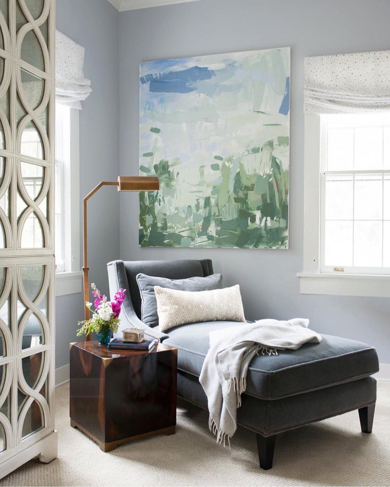 So fun seeing my painting in this beautiful space by Gordon Dunning in Atlanta Home Magazine!