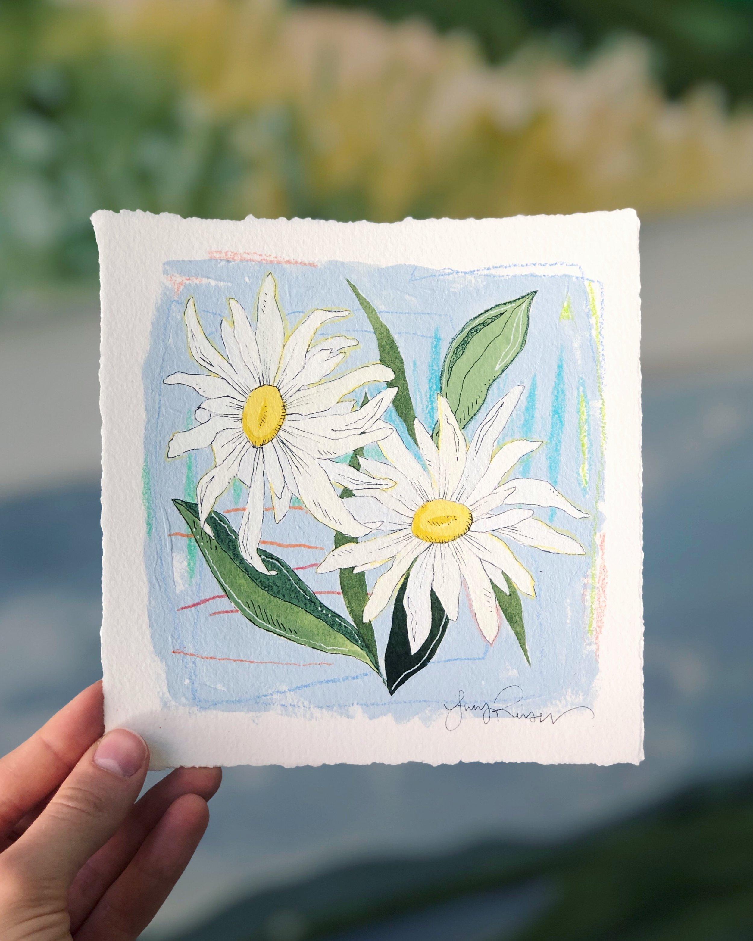 Wildflower Wednesdays series: Painting no. 2.