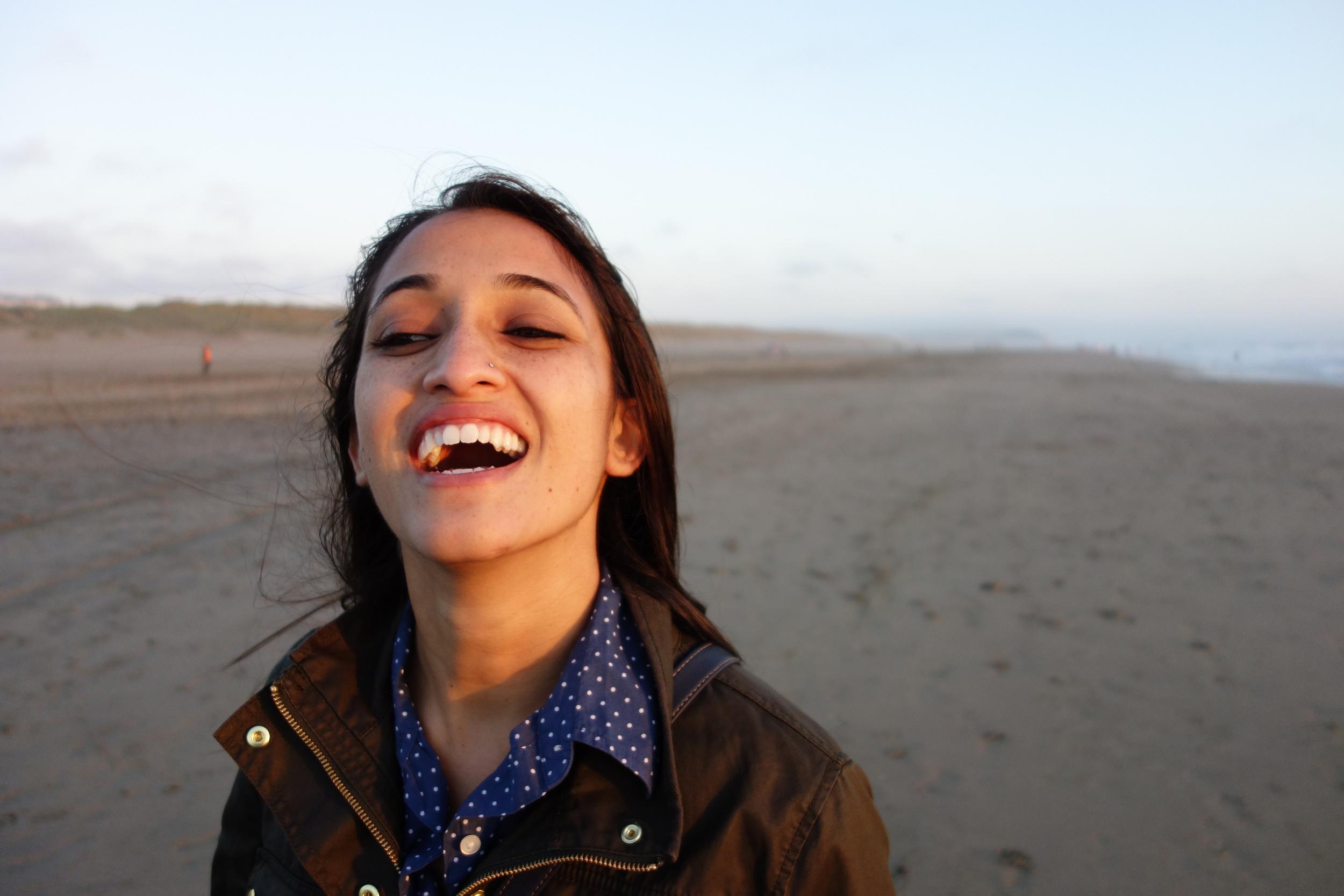 Pooja at Ocean Beach. (RX100)