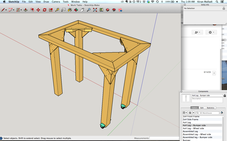 Work table CAD progress++