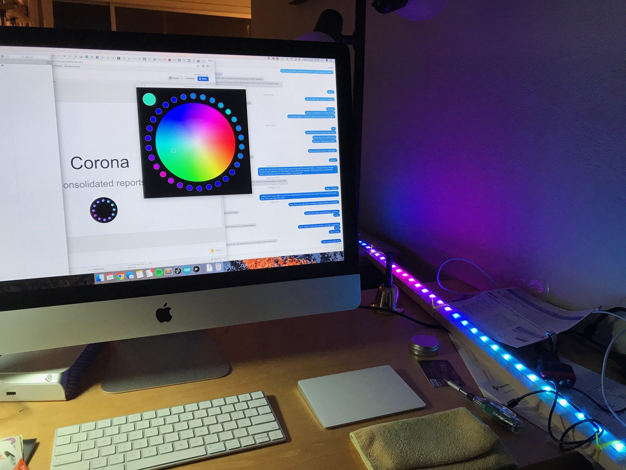 Corona controller testing