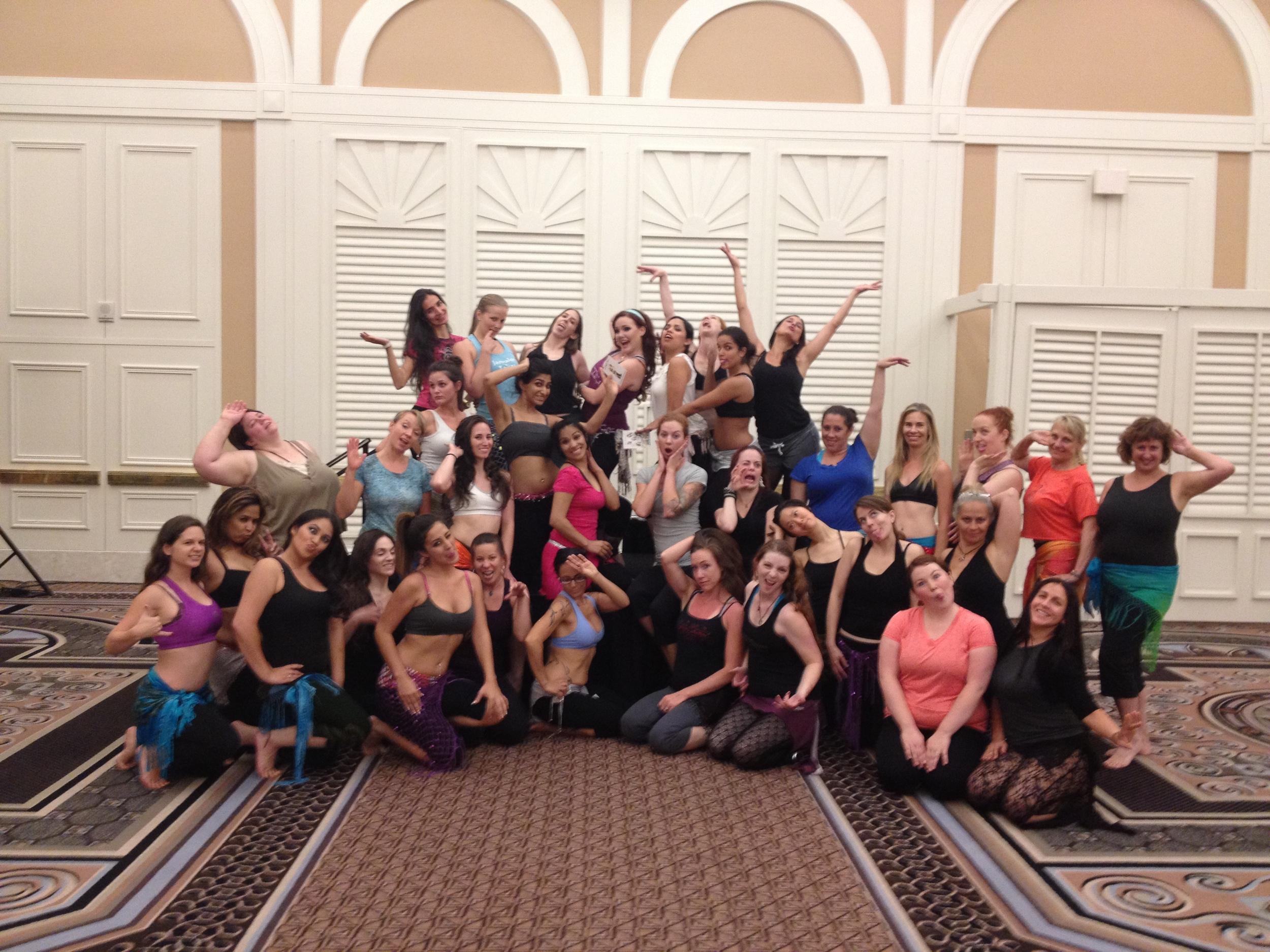 Amanda Rose teaching at the Las Vegas Bellydance Intensive 2012