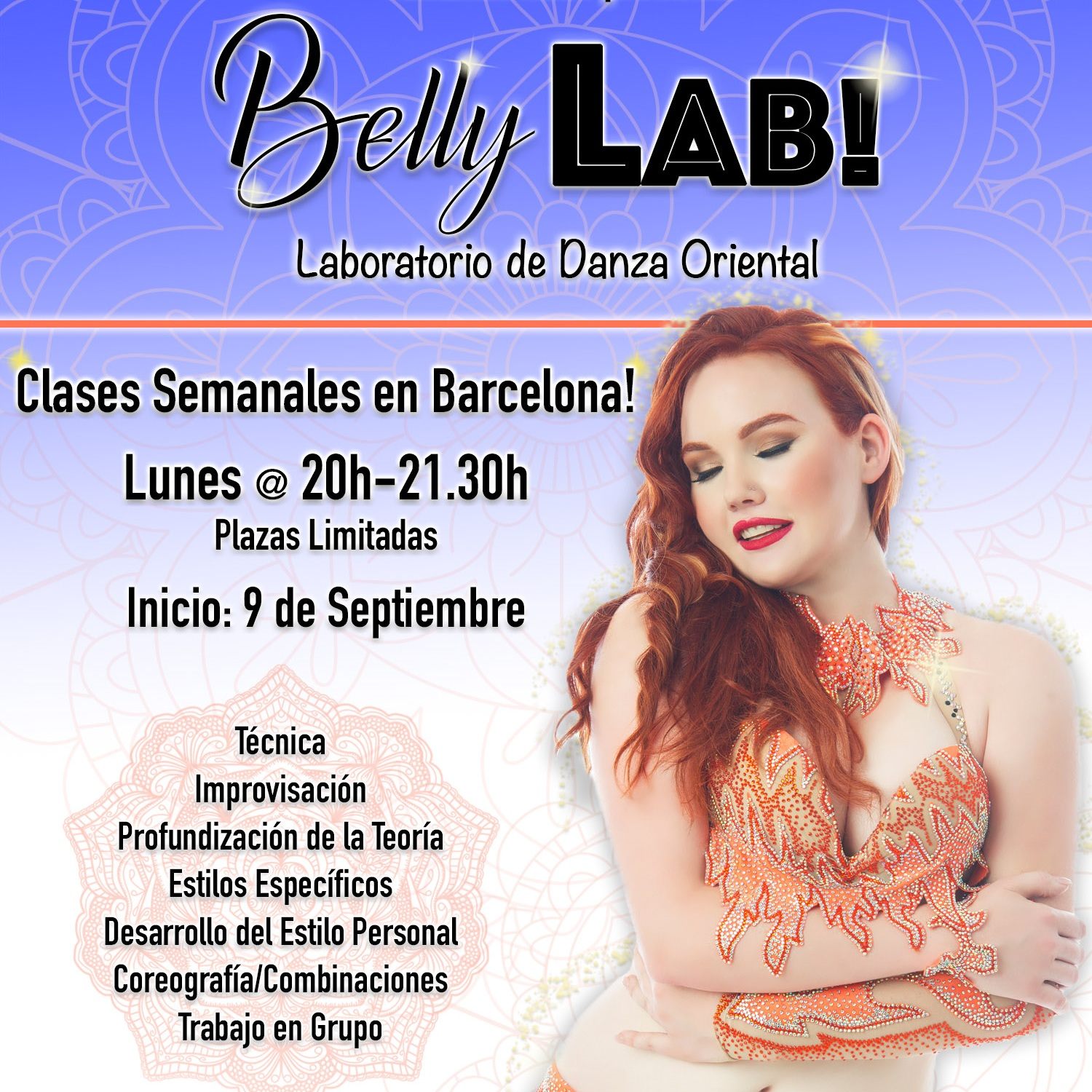 BellyLab in Barcelona! - BellyLab - Weekly ClassesBarcelona, SpainAmanda Rose por primera vez impartirá clases semanales en Barcelona con inicio el 9 de Septiembre 2019. Más información click aquí!Amanda Rose is currently located in Barcelona and will begin weekly BellyLab classes starting September 9th, 2019. Click here for more information on BellyLab in Barcelona!