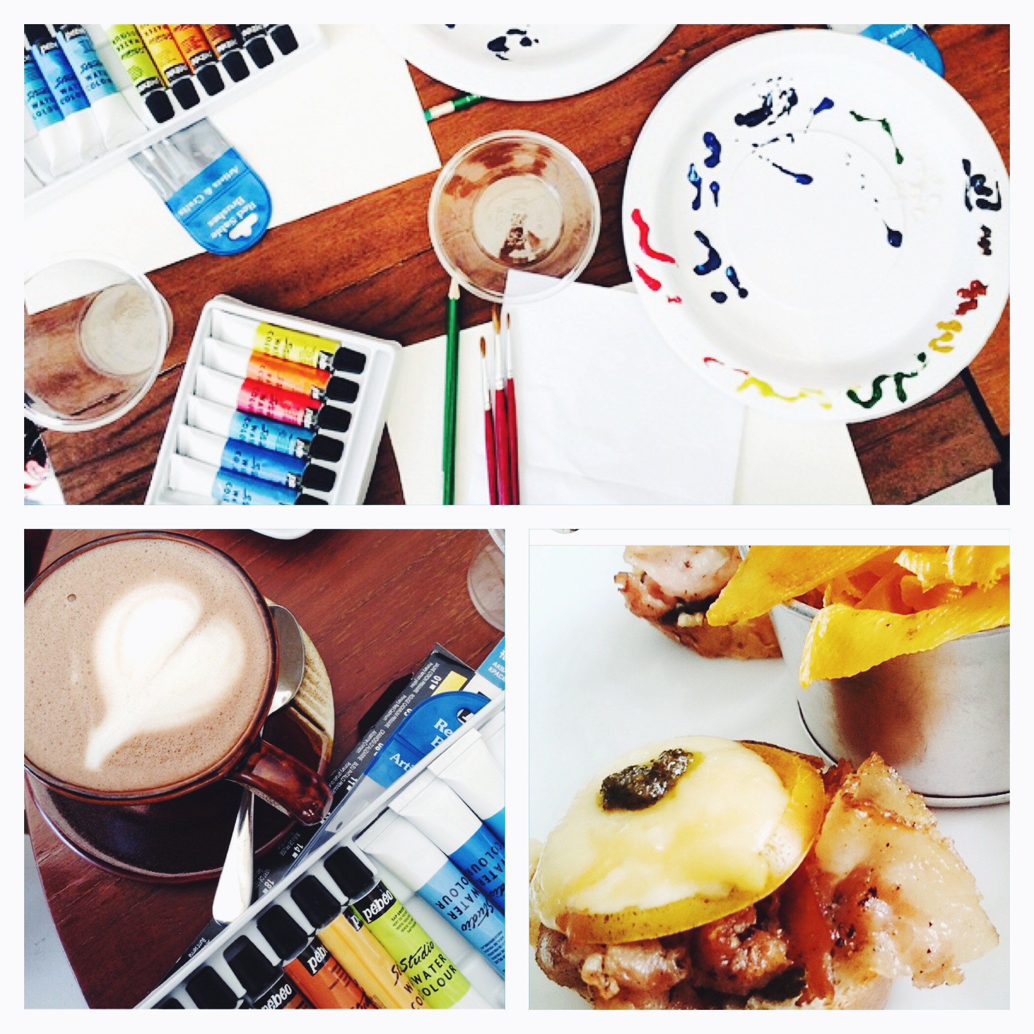 Paint, coffee, good food, and company - the recipe for the perfect Saturday morning