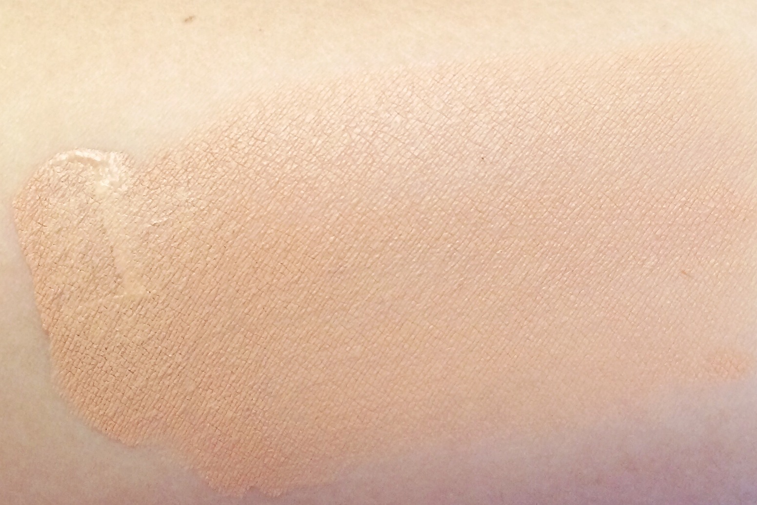 Swatch of the #2 shade. You'll notice it's darker and a bit orange on my skin.