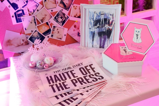 The chic set up at the launch of the Shupette collection