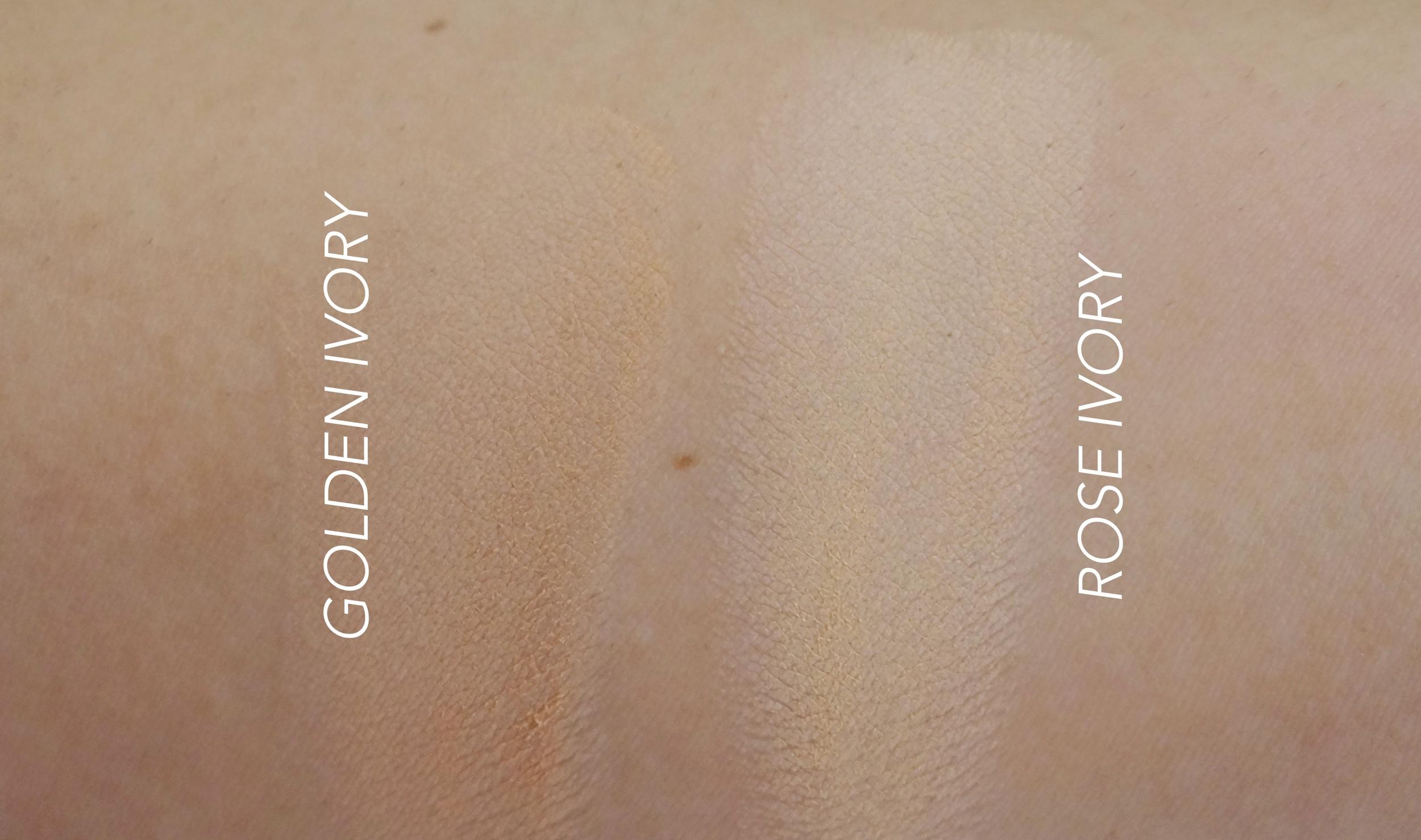 Golden Ivory is the darkest; Rose Ivory I believe is third from darkest
