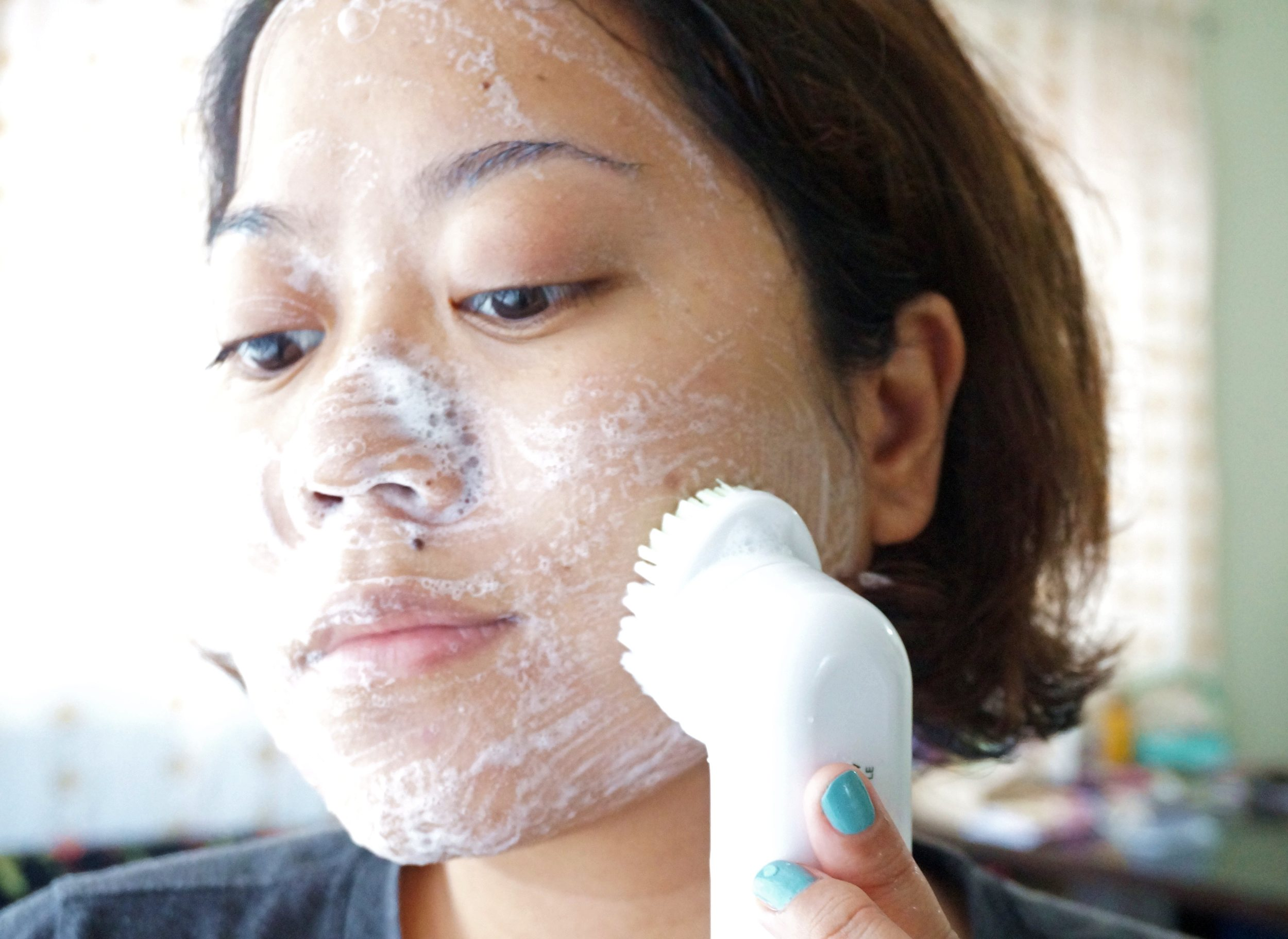 You can use the brush twice a day, as long as you don't press it hard on your face.